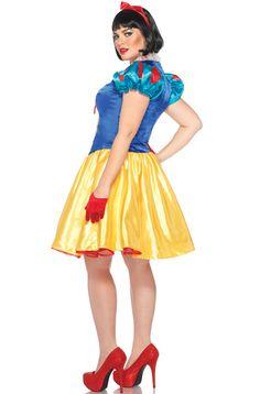 Leg Avenue Disney Plus-Size Classic Snow White Costume Dress and Bow Head Piece, Blue/Yellow/White, size classic snow white,dress and bow head piece Plus Size Disney Costumes, Disney Princess Costumes, Plus Size Costume, Adult Costumes, Halloween Costumes, Princess Disney, Costume Supercenter, Lace Dress, Dress Up