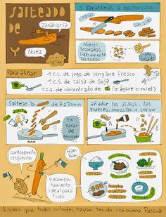 """""""Platillos"""" volantes: Salteado de zanahoria y nuez"""