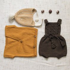 «Need this lovely outfit? Get it today with 30% off with no code needed: Ravena romper in Cocoa, Malin vest and Divna hat in Punmkin. #kalinkakids»