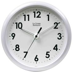 A clock with a bonus! La Crosse Technology Atomic Digital Clock with Extra-Large Numbers. La Crosse Technology Digital Atomic Wall Clock with Moon Phase. La Crosse Technology Wireless Color Weather Station with Mold Indicator. Atomic Wall Clock, Wall Clocks, Projection Alarm Clock, White Clocks, Wall Clock Online, Tabletop Clocks, Clocks For Sale, How To Make Wall Clock, La Crosse
