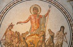 Roman Mosaic depicting the Triumph of Neptune, Bardo Museum, Tunisia  Bardo National Museum, Tunisia
