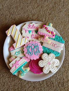 Girly Birthday Cookies / One Dozen by ShopCookieCouture on Etsy, $37.00
