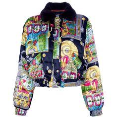 MOSCHINO VINTAGE slot machine print jacket ❤ liked on Polyvore
