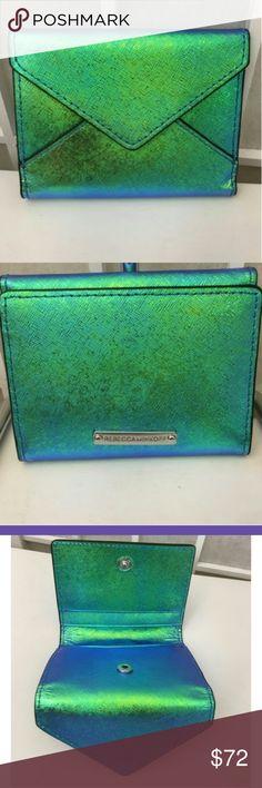 Rebecca Minkoff Gorgeous Rebecca Minkoff iridescent blue/green coin/ cardholder Rebecca Minkoff Accessories Key & Card Holders