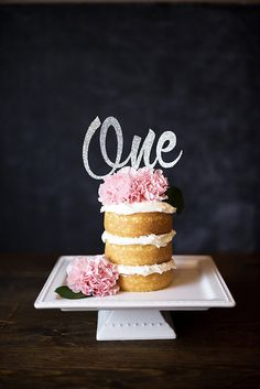 Silver Glitter Number Cake Topper by CutsOfConfetti on Etsy