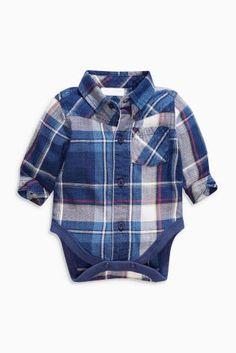 Navy Check Shirt-Body (0mths-2yrs)