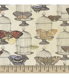 Joann Fabric Susan Winget Quilt Fabric- Butterfly Revolution Fancy Free