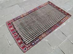 "Antique Turkish Rug 3'1 x 5'6 Hand Woven Wool Sivas Carpet 37"" x 68"" RARE | eBay"