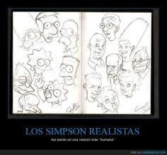 LOS SIMPSON REALISTAS - Así serían en una versión más ''humana''