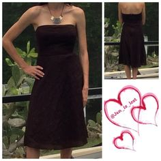 """J Crew Brown Dress 4 Strapless dress with back zipper and snap closure.  Measures 36"""" in length. Fully lined.  Worn twice and is in like new condition.  Any questions please ask.  I am a size 4-6 depending on brand 5'7"""" tall and 34dd. J. Crew Dresses Strapless"""