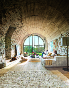 Blockhaus/Ferienhaus Design and architecture for a Spanish farm - PLANETE DECO a homes world A Time Interior Design Inspiration, Home Interior Design, Interior And Exterior, Interior Paint, Interior Doors, Design Ideas, Ikea Interior, Interior Livingroom, Deco Design