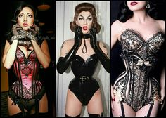 "kathteamonroe: Considering going back to #waisttraining my inspirations this time will be @jade_vixen @violetchachki and @ditavonteese. My waist naturally is a blocky 28""-29"" (guess who took a long break). My natural waist goal is 22"" (close to these ladies). Right now is finding the right person or company to collaborate with and drawing patterns for them. #corsetry #tightlacing #corset #goals"