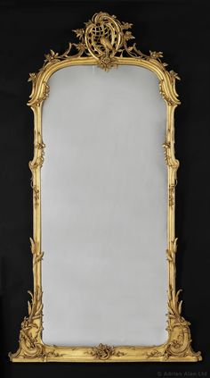 A Very Fine Carved Giltwood #Mirror, German, Circa 1860 - #adrianalan #opulence