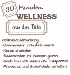 30 min Wellness aus der Tüte: