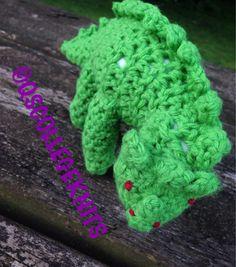 Crochet Stuffed Toy Dinosaur (15.00 USD) by QSCollegeKnits