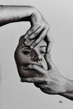 Self-portrait graphite A4 via /r/Art...