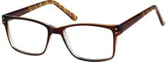 Brown Classic Rectangular Eyeglasses 125815