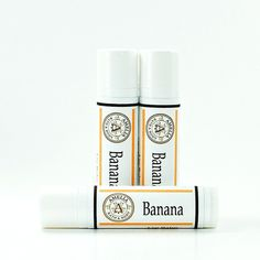 Banana Lip Balm Vegan Lip Balm, Vegan Product, Tropical Fruit, Vegan... (€3,58) ❤ liked on Polyvore featuring beauty products, skincare, lip care and lip treatments