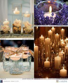 Candles : Fabulous decorative Ideas...love the mason jars! simple yet cute