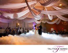 Dancing on clouds. Fog Machine at Wedding Reception. Fog on Dance Floor. Unique Wedding. Creative Wedding Ideas. First Dance.