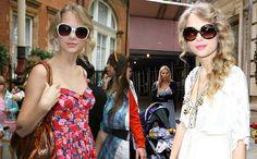 Adorabila Taylor Swift si perechile ei de soare oversized ...