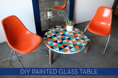 Make It: A Colorful DIY Painted Glass Table