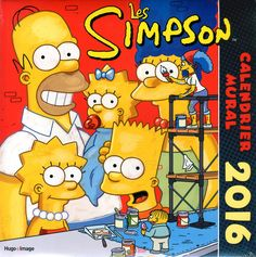 """The Small World of Belly: Calendrier Mural """" Simpson"""" 2016 / Ephemeride """" Jo..."""