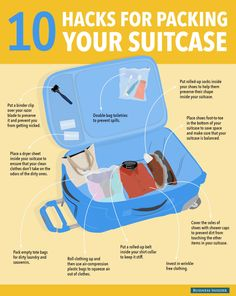 Need help Packing? Check out these #travelhack infographic. Some of the tips are pretty good! #travel