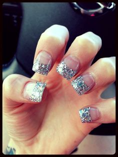 On average, the finger nails grow from 3 to millimeters per month. If it is difficult to change their growth rate, however, it is possible to cheat on their appearance and length through false nails. Are you one of those women… Continue Reading → Acrylic Nails Stiletto, Glitter Tip Nails, Best Acrylic Nails, Hot Nails, Hair And Nails, Graduation Nails, French Tip Nails, French Manicures, Gorgeous Nails