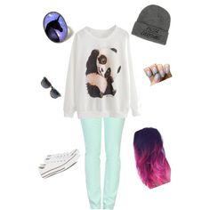 Lazy girlzz date look? by desrhe-van-hoof on Polyvore featuring polyvore, mode, style, Love Moschino and Converse