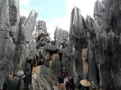 The Stone Forest in the Yunnan Province of China.