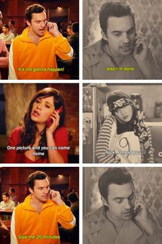 you know he loves her :) New Girl Show, New Girl Series, New Girl Nick And Jess, New Girl Quotes, Jake Johnson, Jessica Day, Boy Best Friend, Nick Miller, Hey Girl