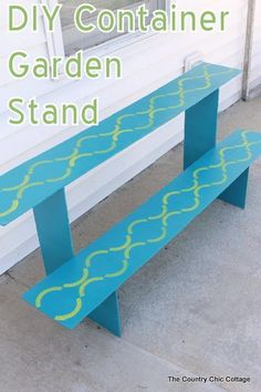 DIY Garden Accessories : DIY: Container Garden Stand