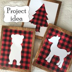 Buffalo Plaid Nursery Art, Lumberjack Nursery Art, Woodland Nursery Art, Buffalo Plaid Nursery Prints, Lumberjack Nursery Prints, Set of 6 This little print set would be so cute in a Lumberjack theme nursery. They would also work well as decor for a lumberjack birthday party. I adore buffalo plaid...its so cozy. These little prints work perfectly with Buffalo Plaid nursery bedding to create a fun and cozy atmosphere. The prints stand out perfectly on their own, but would also be great as…