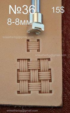 Herramientas para artesanías. Sello 36 por LeatherStampsTools