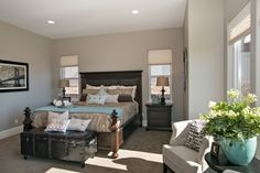 Master bedroom with formal sitting area