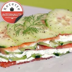 Mille feuilles de concombre et saumon, facile, rapide et pas cher : recette sur Cuisine Actuelle