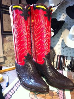 My new boots by L. M. Easterling Custom Boots, Fredericksburg,TX