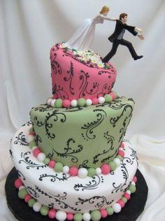 Mood Monday - Artistic Wedding Cakes   Rock The Aisle