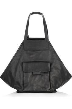 Jil Sander|Oversized leather shoulder bag|NET-A-PORTER.COM
