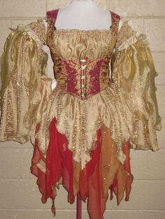 DDNJ Choose Color Renaissance Fairy Pixie Sprite Costume 4pc Cosplay Larp Anime 400 Plus Fabrics Custom  Made Your Measurements. $249.00, via Etsy.