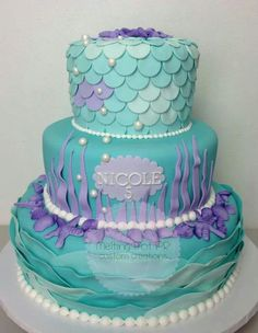Mermaid cake...I want this for Olivia's 14th Birthday!!!