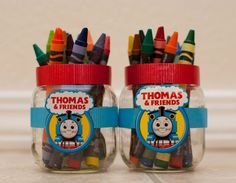 Thomas party activities. Set up little tables for all the kids to do crafts!