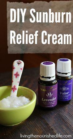 DIY Sunburn Relief Cream - The Nourished Life