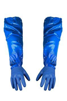 ВЛАГОЗАЩИТНЫЕ ПЕРЧАТКИ С НАРУКАВНИКАМИ Артикул: 043-1 Перчатки с нарукавниками выполнены из очень прочной, устойчивой к жирам и желудочным сокам ткани Opalo. Рекомендуются для рыболовецких работ. Отлично защищают ладони и предплечья. Ткань Opalo отличается большой стойкостью к соленой воде. Нарукавники являются дополнением к фартуку.