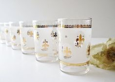 Vintage Federal Glass Company Juice Glasses by AlegriaCollection, $15.00 by bernadette