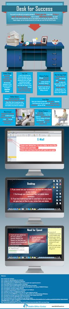 Desk-for-Success-Infographic - good points to remember and use to be more efficient and effective