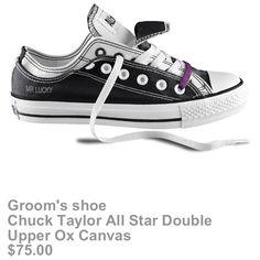 Groom's Converse custom design shoe <33