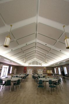 Church Acoustics: Reducing echo and improving speech intelligibility with ceiling treatment.  Good video demonstration of reduced reverberation.