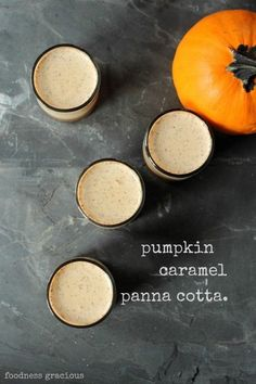 Pumpkin Caramel Panna Cotta | Foodness Gracious